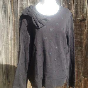 Kate Spade L Bow Sweater Glitter Polka Dots